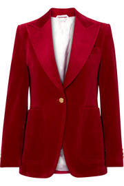 Gucci Cotton-blend velvet blazer