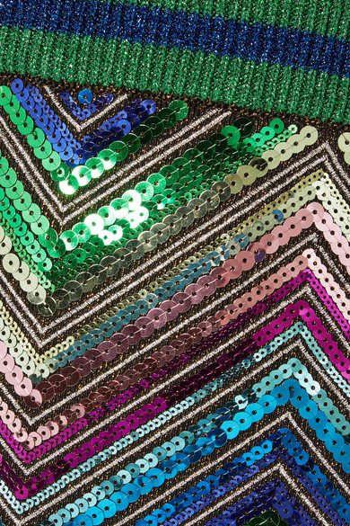 Am Billigsten Auslass Finish Gucci Minirock aus Stretch-Strick mit Paillettenverzierung Große Überraschung Verkauf Online l07YIU3y0