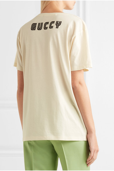 9d7664b6ff8e Gucci | Elton John printed cotton-jersey T-shirt | NET-A-PORTER.COM