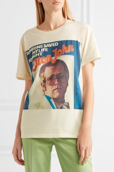 9d7664b6ff8e Gucci   Elton John printed cotton-jersey T-shirt   NET-A-PORTER.COM