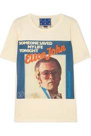 Gucci Elton John printed cotton-jersey T-shirt