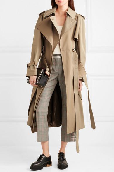 Alexander McQueen Trenchcoat aus Baumwoll-Gabardine