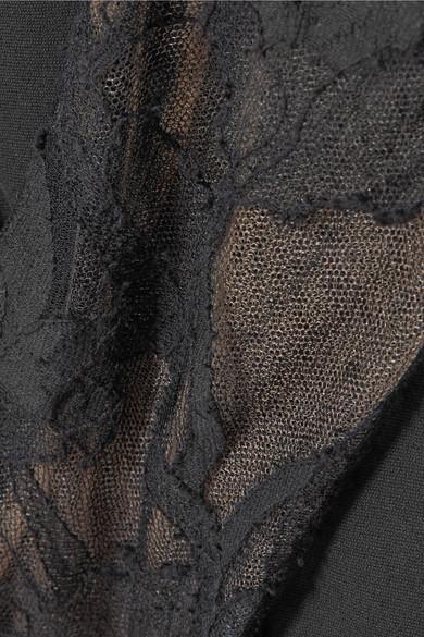 Alexander McQueen Robe aus besticktem Tüll und Crêpe