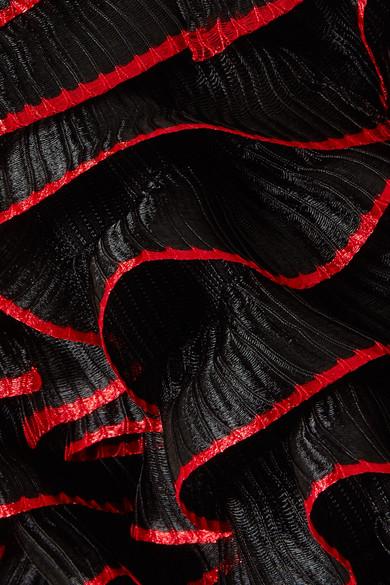 Alexander McQueen Schulterfreies Minikleid aus Stretch-Strick mit Rüschen