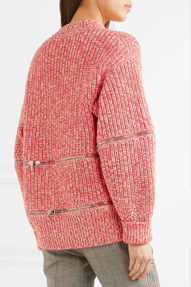 Alexander McQueen Cardigan aus einer Baumwoll-Wollmischung mit Reißverschlüssen