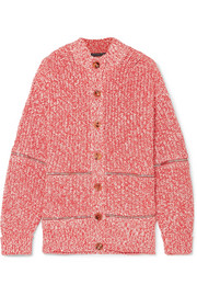 Alexander McQueen Zip-embellished cotton and wool-blend cardigan