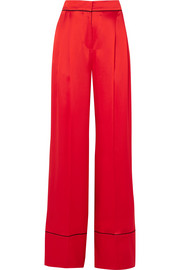 Alexander McQueen Silk-satin wide-leg pants
