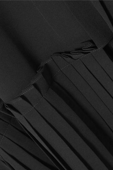 Alexander McQueen Asymmetrische Oversized-Bluse aus Crêpe de Chine aus Seide mit Rüschen