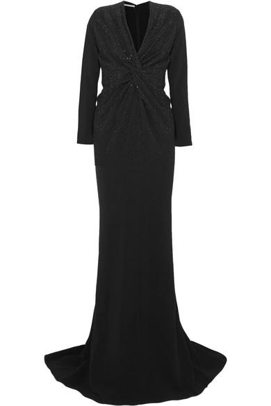 Crystal-embellished Cady Gown - Black Stella McCartney 04nn6Pr