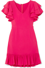 Stella McCartney Ruffled crepe mini dress
