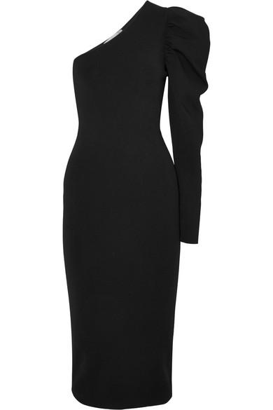 Stella McCartney Kleid aus stretch-Strick mit asymmetrischer Schulterpartie