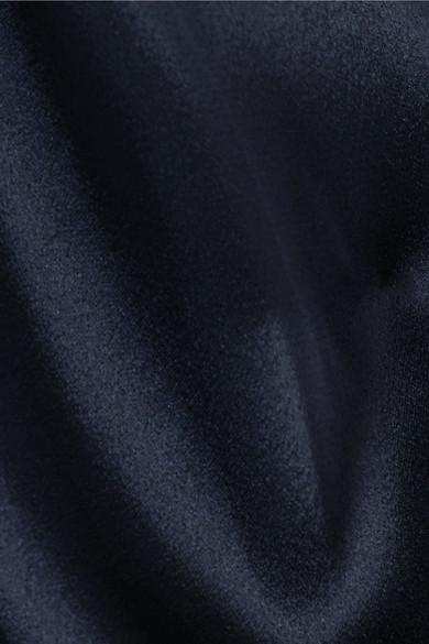 Stella McCartney Minikleid aus Satin und Cady mit asymmetrischer Schulterpartie