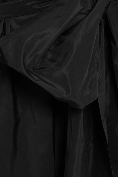 Stella McCartney Schulterfreies Maxikleid aus Taft mit Gürtel