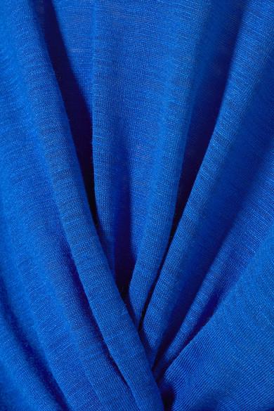 Stella McCartney Pullover aus Seiden-Jersey mit Flammgarneffekt und Twist-Detail vorne