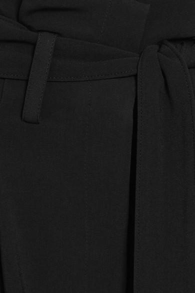 Stella McCartney Hose mit weitem Bein aus Crêpe mit Gürtel