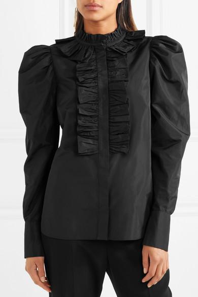 Stella McCartney Hemd aus Taft mit Rüschen