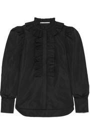 Stella McCartney Ruffled taffeta shirt
