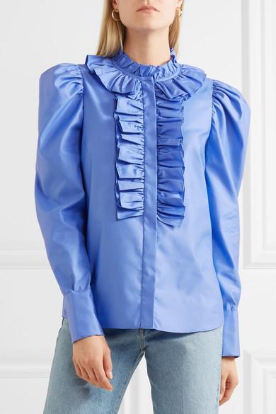 Stella McCartney Shaylee Bluse aus Baumwollpopeline mit Rüschen