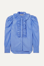 Stella McCartney Shaylee ruffled cotton-poplin blouse