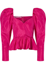 Stella McCartney Taffeta peplum top