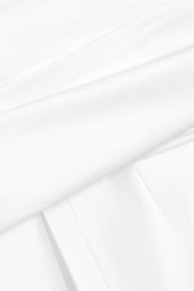 Stella McCartney Schulterfreies Oberteil aus Baumwollpopeline mit Rüschen
