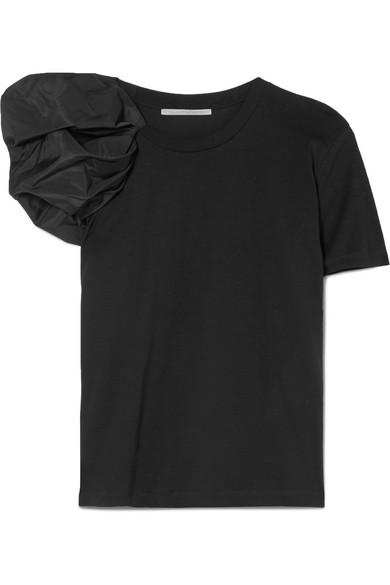 Stella McCartney T-Shirt aus Baumwoll-Jersey mit geraffter Partie aus Taft Spielraum Authentisch Spielraum Ansicht Günstig Kaufen Fabrikverkauf Rabatt Großhandel Rabatt Wiki PCxkTlM3q