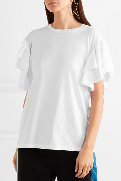 Stella McCartney T-Shirt aus Baumwoll-Jersey mit Rüschen