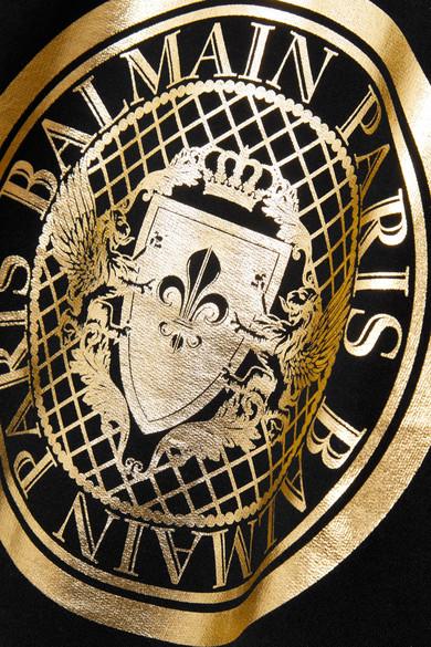 Balmain Bedrucktes Sweatshirt aus Baumwoll-Jersey