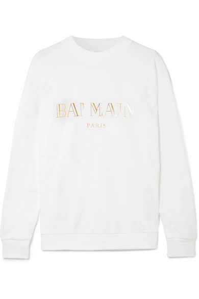Balmain Bedrucktes Sweatshirt aus Baumwoll-Jersey Zu Verkaufen Billig Authentisch Online Shop Nicekicks Verkauf Online Größte Anbieter Online q2epbpTp0