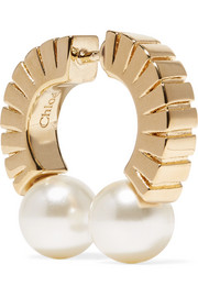 Darcey gold-tone faux pearl earring