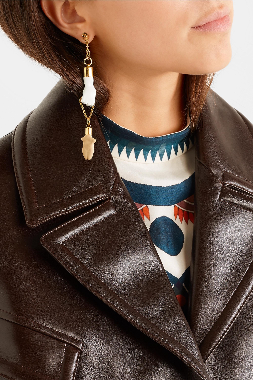 Chloé Femininities gold-tone resin earrings