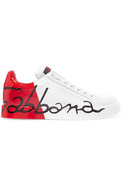 Dolce & Gabbana Logo-painted leather sneakers
