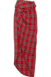 Tartan cotton wrap skirt