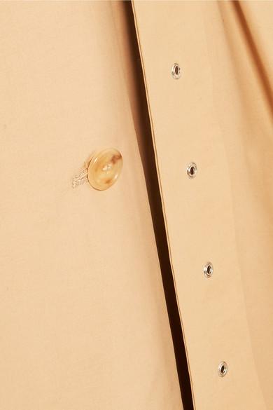 A.W.A.K.E. Trenchcoat aus einer Baumwollmischung mit Einsatz aus Crêpe de Chine mit Polka-Dots