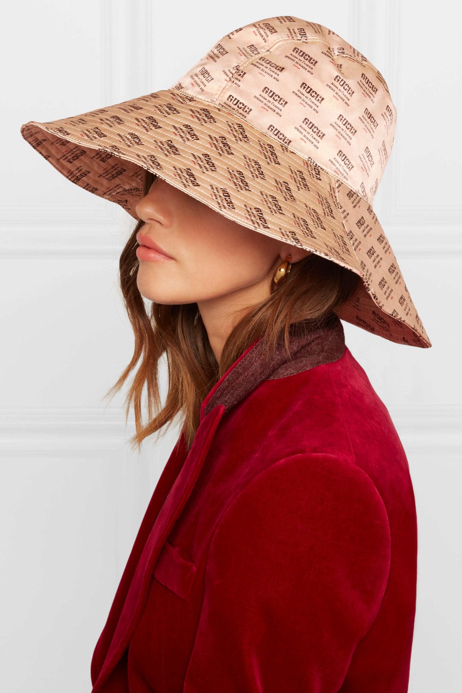 Gucci Printed silk-satin hat