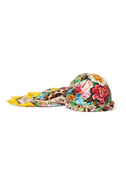 Gucci Embellished printed silk-twill headwrap