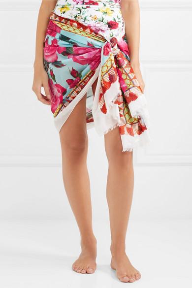 Dolce & Gabbana Bedruckter Pareo aus Baumwoll-Gaze