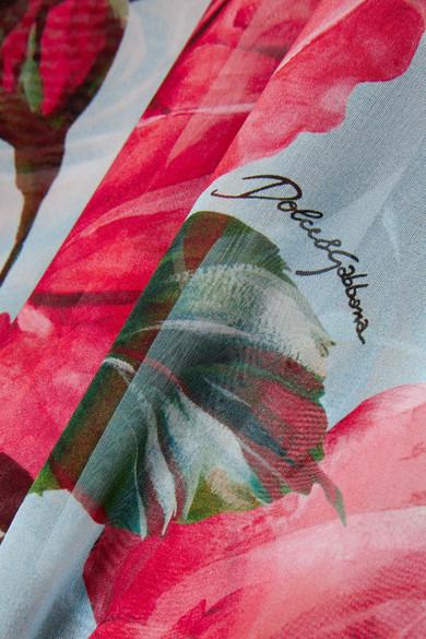 Dolce & Gabbana Kaftan aus Seidenchiffon mit Blumenprint