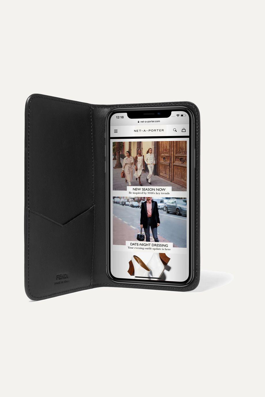 Fendi Flocked leather iPhone X case