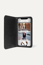 Flocked leather iPhone X case