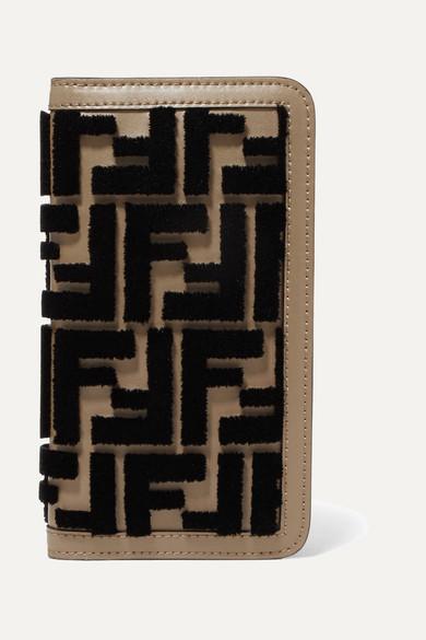 size 40 ce32f c660e Flocked leather iPhone X case