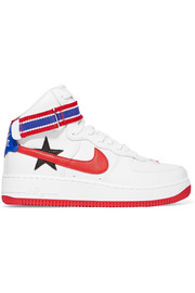 Nike + Riccardo Tisci Air Force 1 appliquéd-leather high-top sneakers