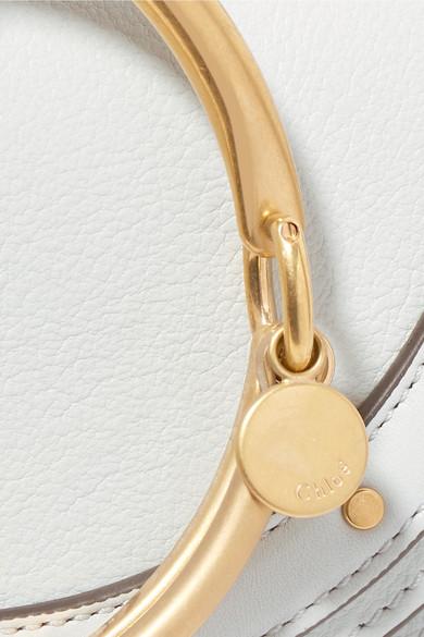 Chloé Nile mini Schultertasche aus strukturiertem Leder