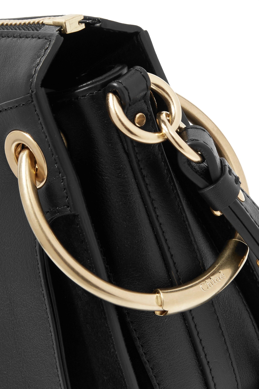 Chloé Roy kleine Schultertasche aus Leder und Veloursleder