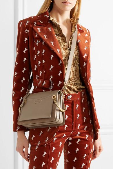 7d6f126cf0 Chloé | Roy small leather and suede shoulder bag | NET-A-PORTER.COM