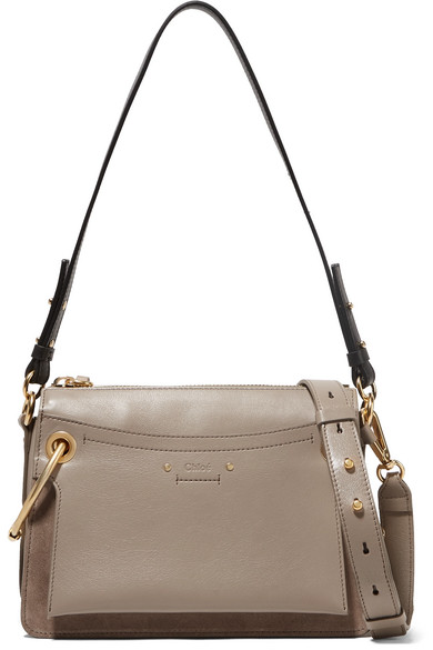 Chloé. Roy small leather and suede shoulder bag 6babadedbb670