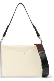 Roy textured-leather shoulder bag
