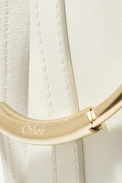 Chloé Roy mittelgroße Schultertasche aus Leder und Veloursleder