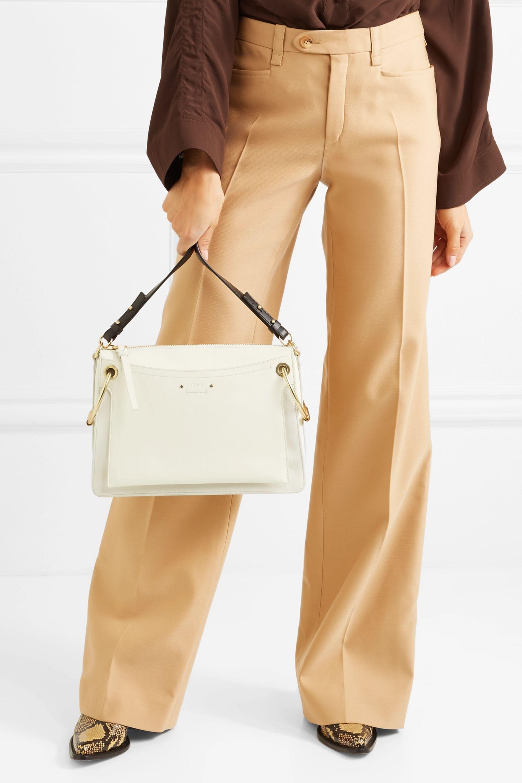 Chloé Roy medium leather and suede shoulder bag