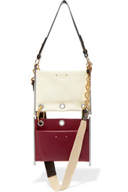 Roy convertible two-tone leather shoulder bag